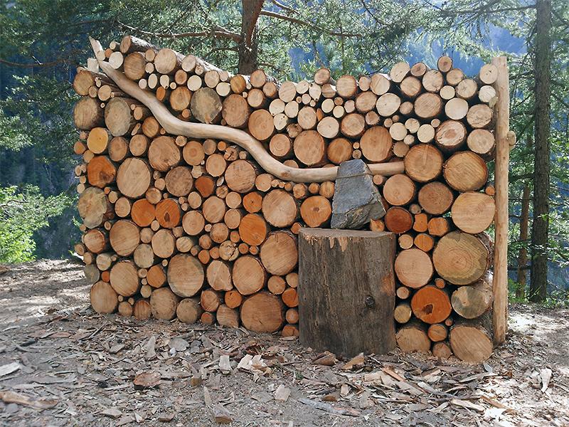Holzbeige